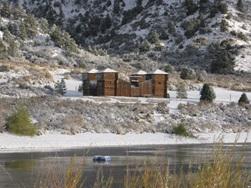 Camp Three Falls with snow